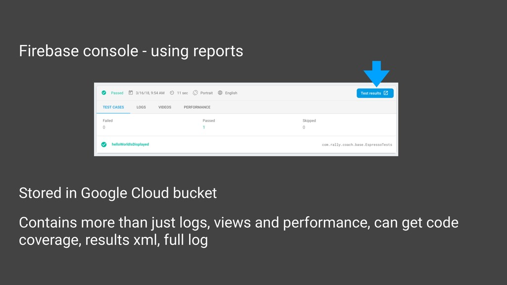 Firebase console - using reports Stored in Goog...