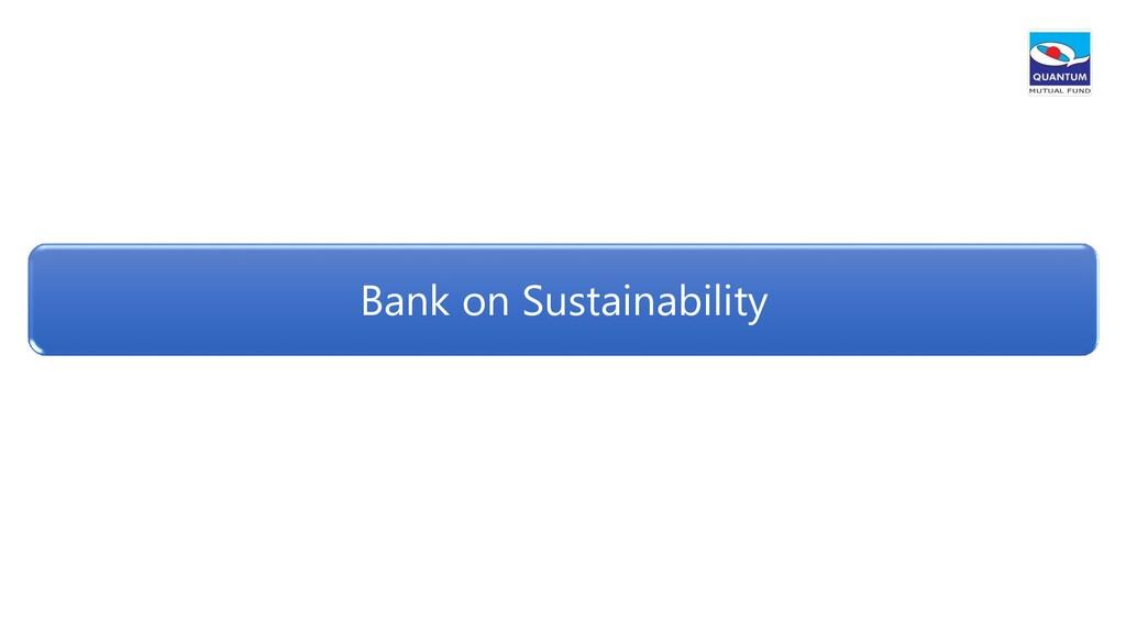 Bank on Sustainability