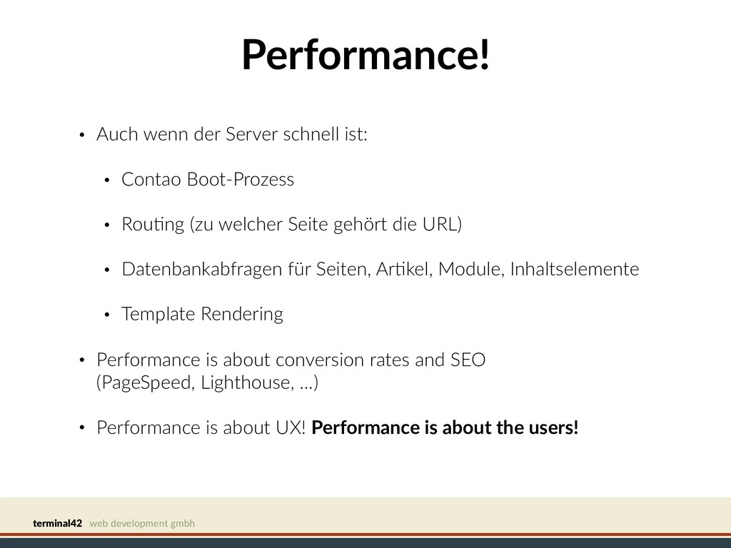 terminal42 web development gmbh Performance! • ...