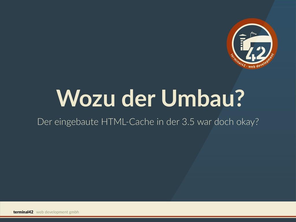 terminal42 web development gmbh Wozu der Umbau?...