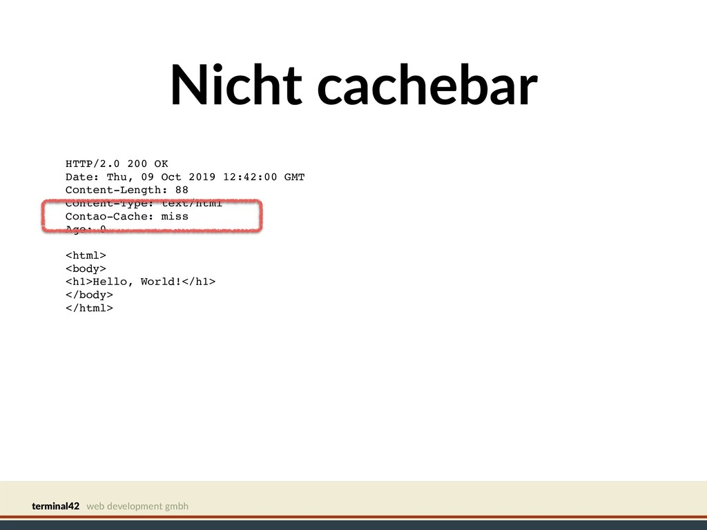 terminal42 web development gmbh Nicht cachebar ...