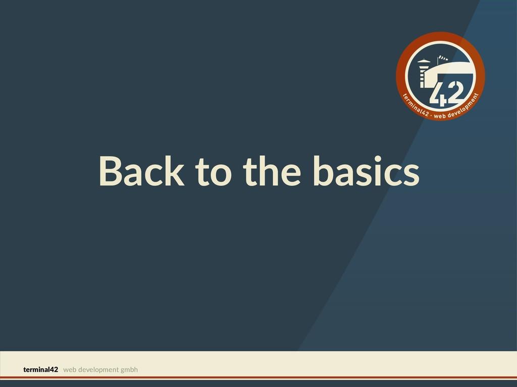 terminal42 web development gmbh Back to the bas...