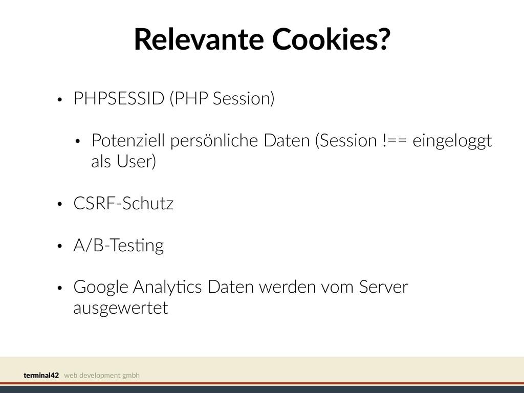 terminal42 web development gmbh Relevante Cooki...