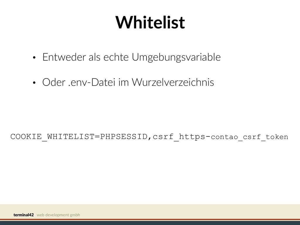 terminal42 web development gmbh Whitelist • Ent...
