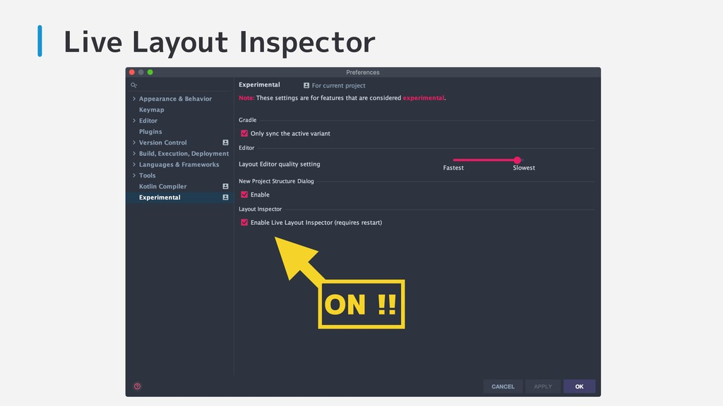 Live Layout Inspector ON !!