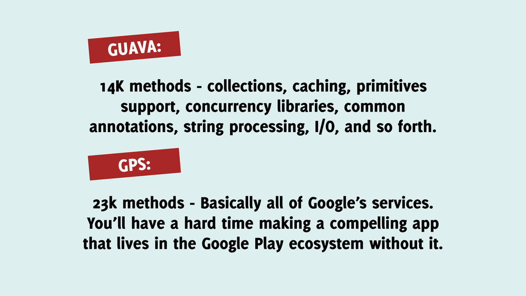 GPS: 14K methods - collections, caching, primit...