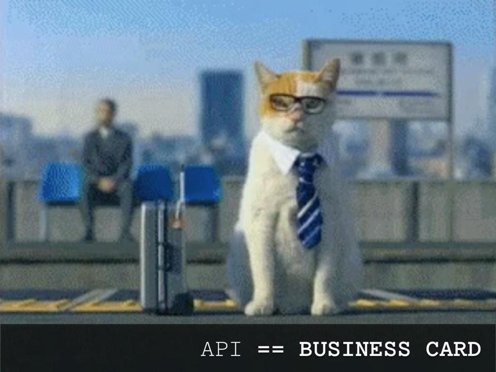 API == BUSINESS CARD