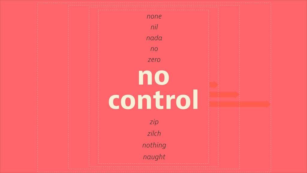none nil nada zero zip zilch nothing naught no ...