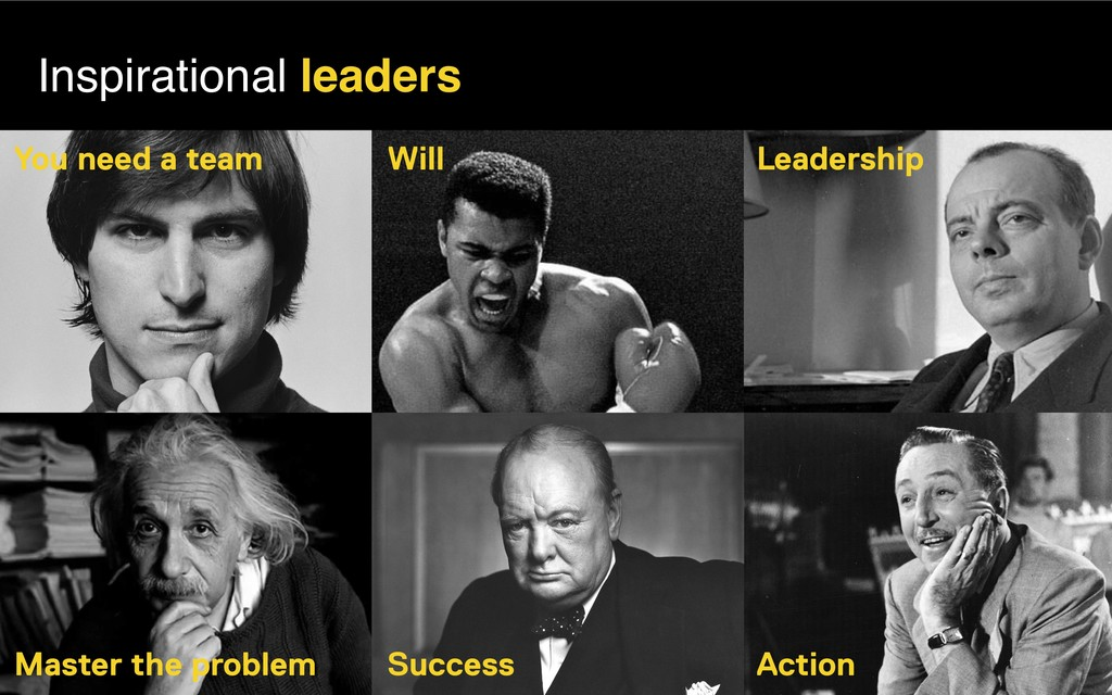 Inspirational leaders Will You need a team Lead...