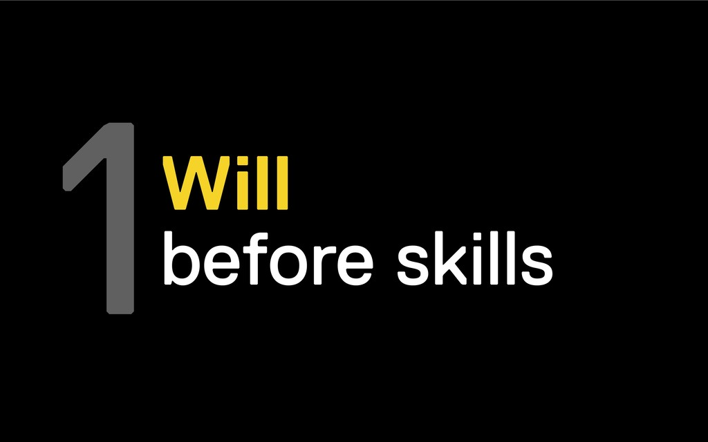 1Will before skills