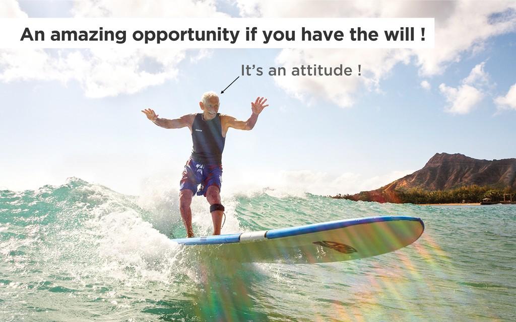 It's an attitude ! An amazing opportunity if yo...