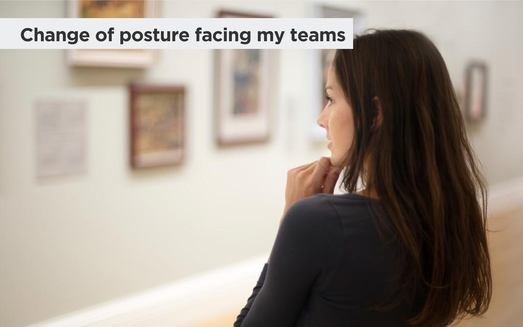 Change of posture facing my teams