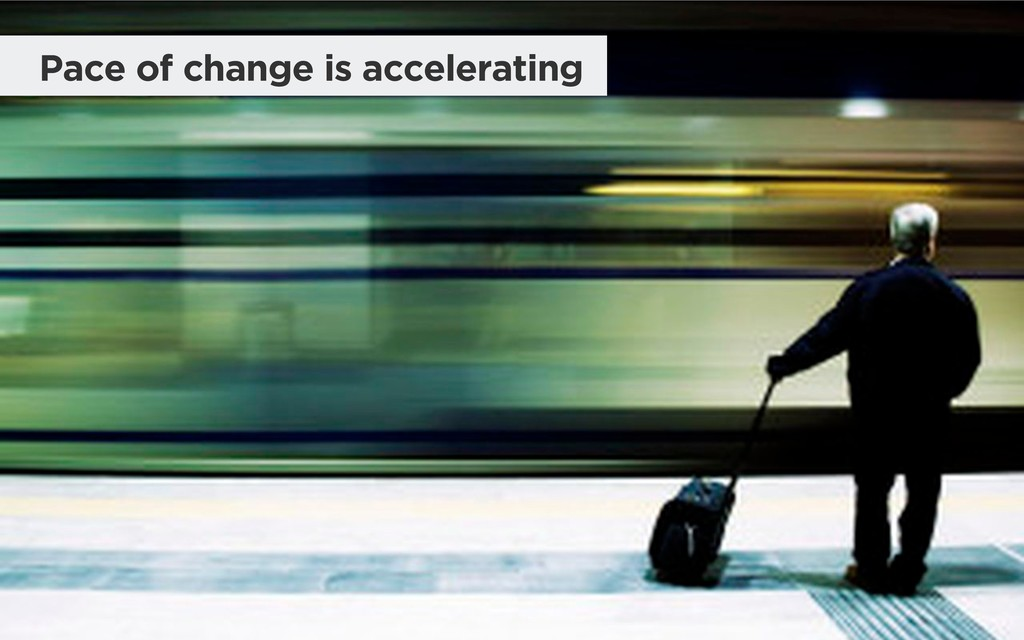 Pace of change is accelerating