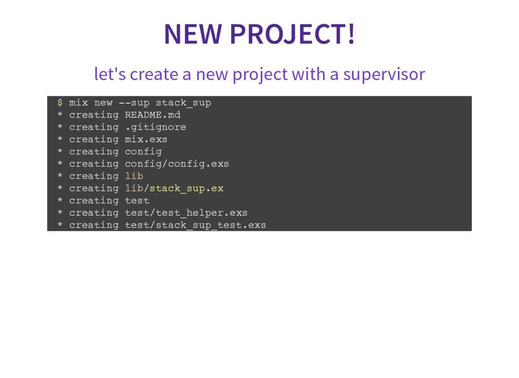 NEW PROJECT! let's create a new project with a ...
