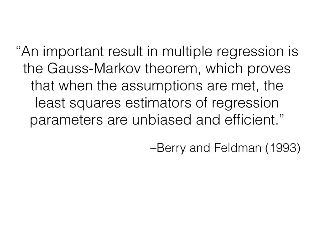 "–Berry and Feldman (1993) ""An important result ..."