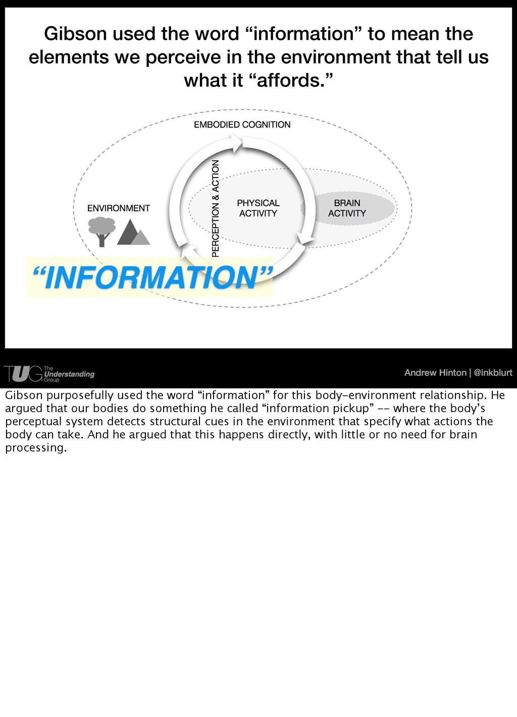 Andrew Hinton   @inkblurt Ecological Informatio...