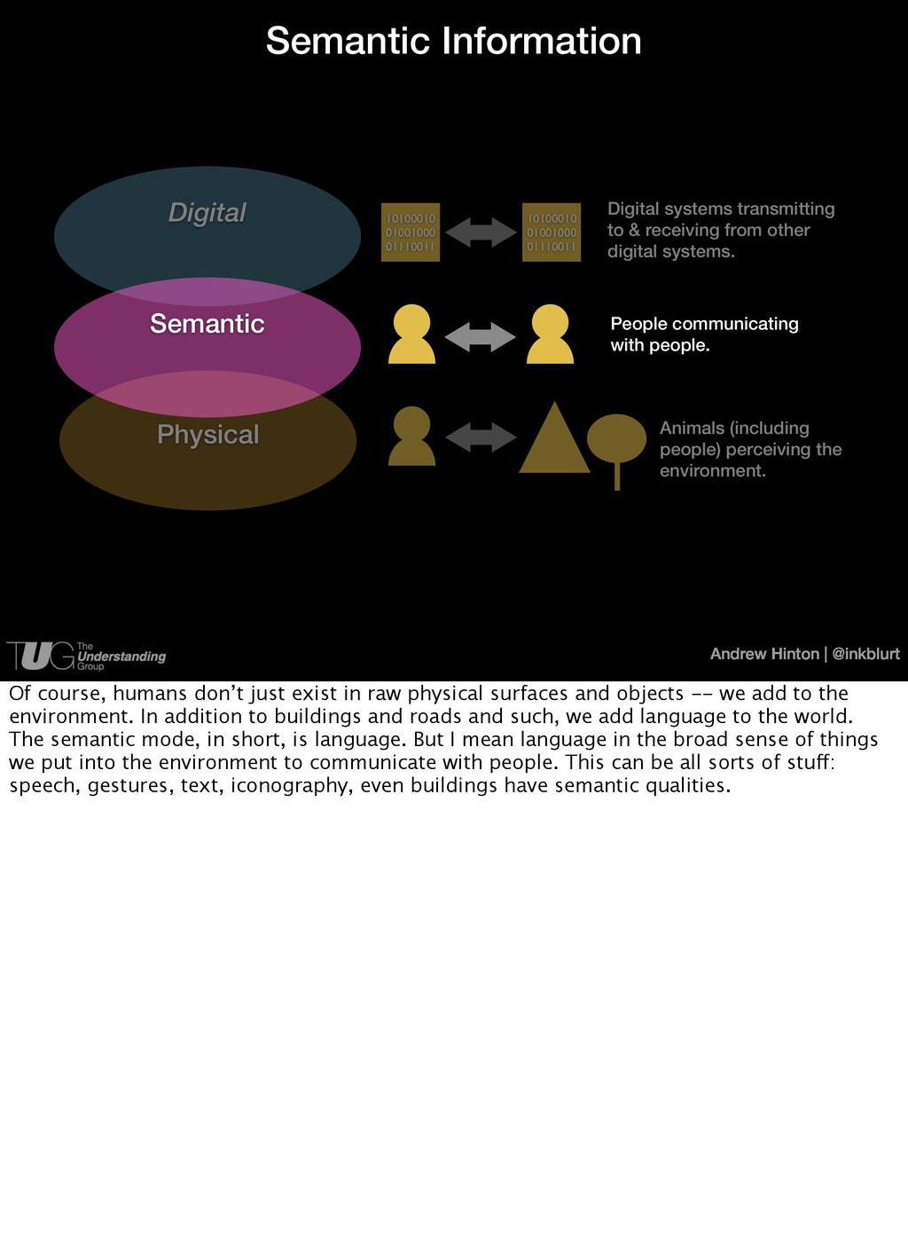 Andrew Hinton   @inkblurt Semantic Information ...