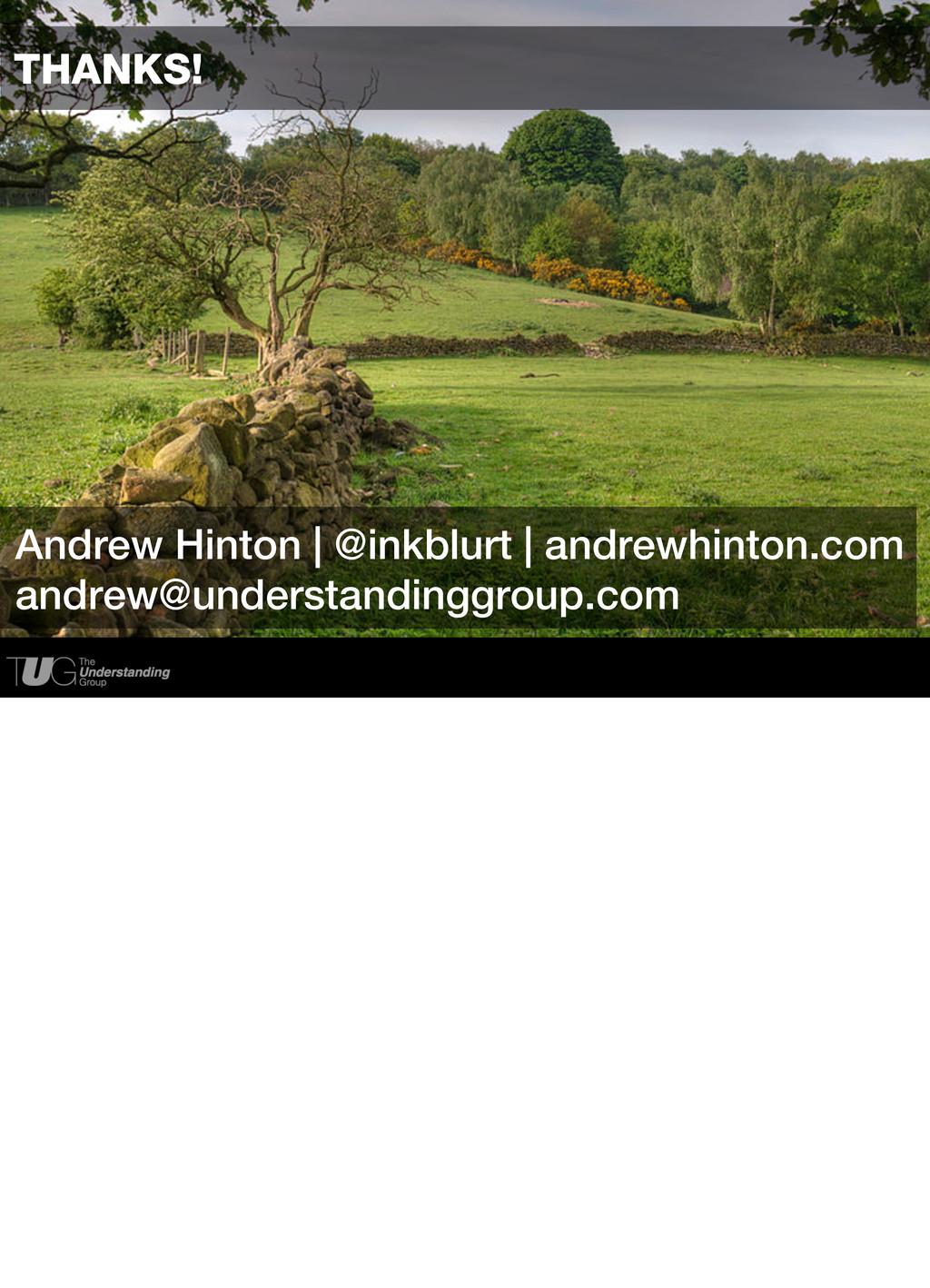 Andrew Hinton   @inkblurt THANKS! Andrew Hinton...
