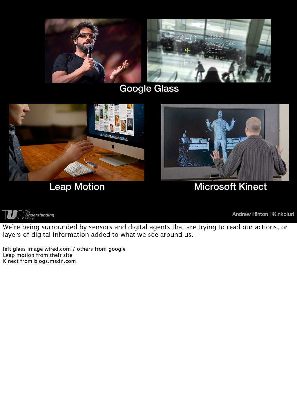Andrew Hinton   @inkblurt Google Glass Leap Mot...