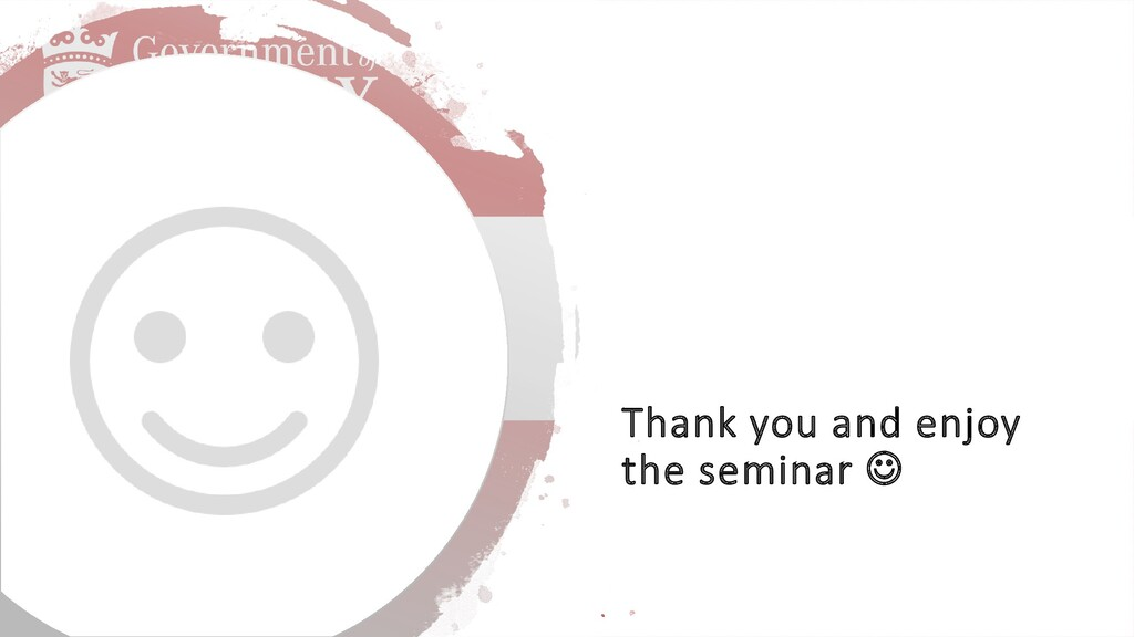 Thank you and enjoy the seminar 