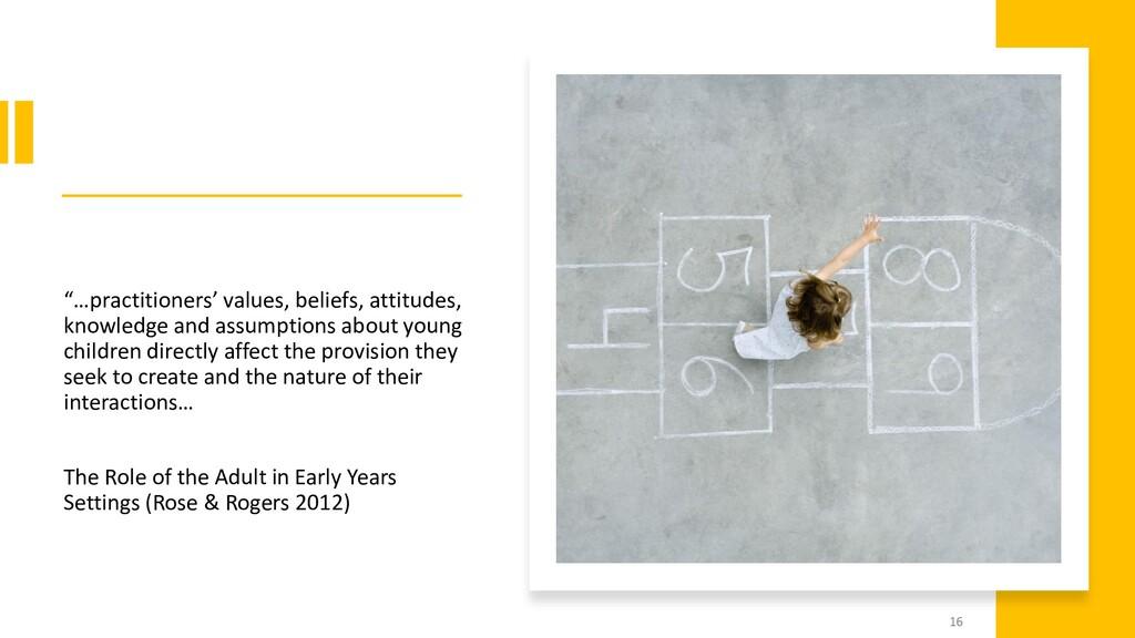"""""""…practitioners' values, beliefs, attitudes, kn..."""