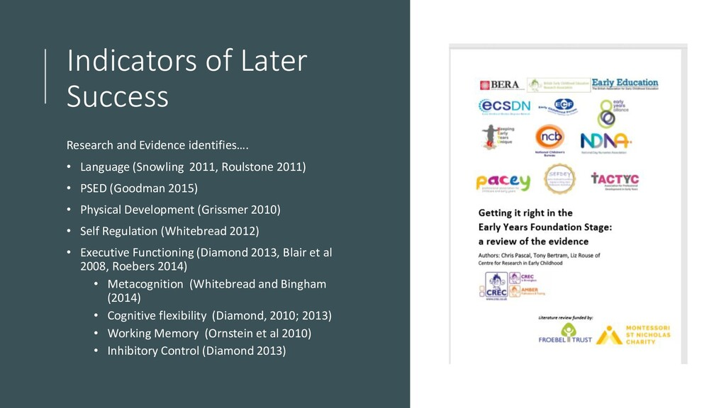 Indicators of Later Success Research and Eviden...