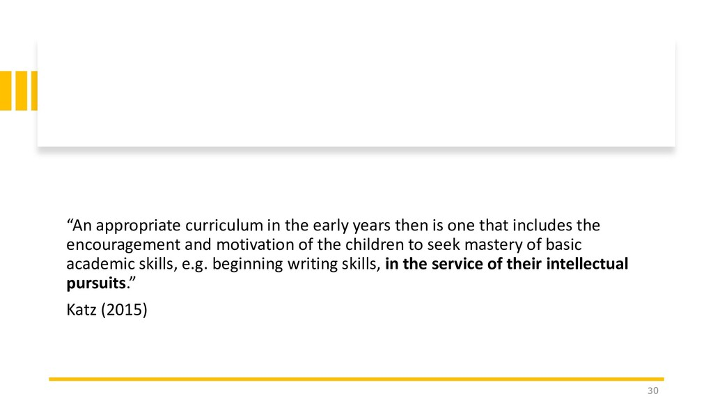 """""""An appropriate curriculum in the early years t..."""