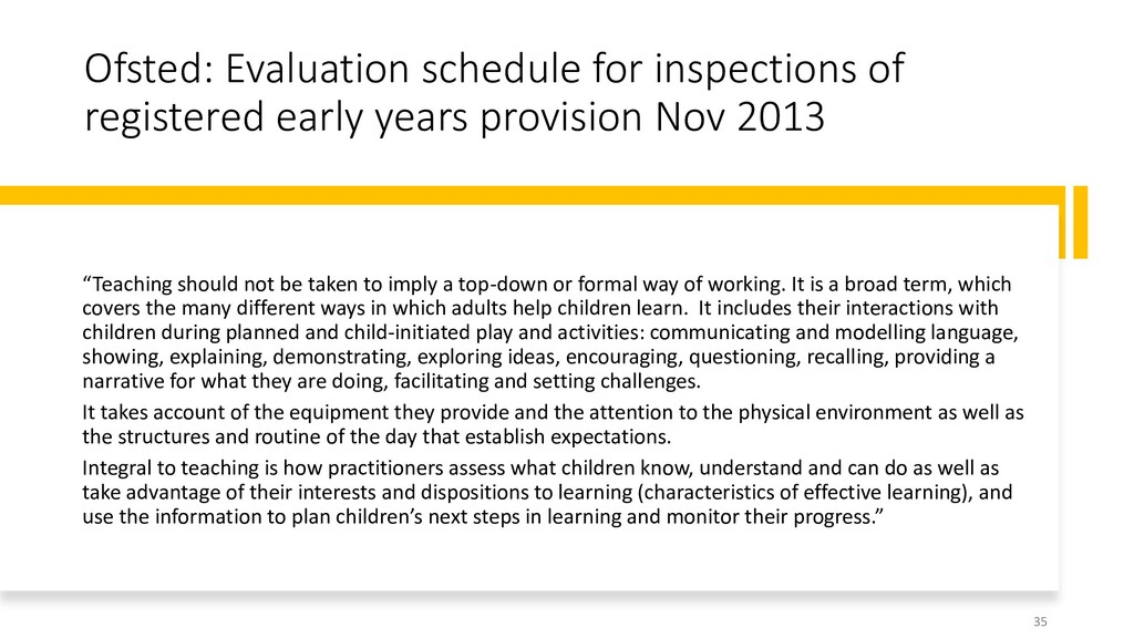 Ofsted: Evaluation schedule for inspections of ...