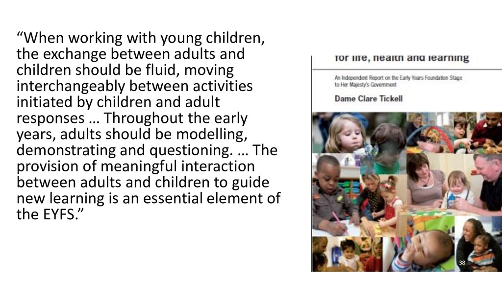 """""""When working with young children, the exchange..."""