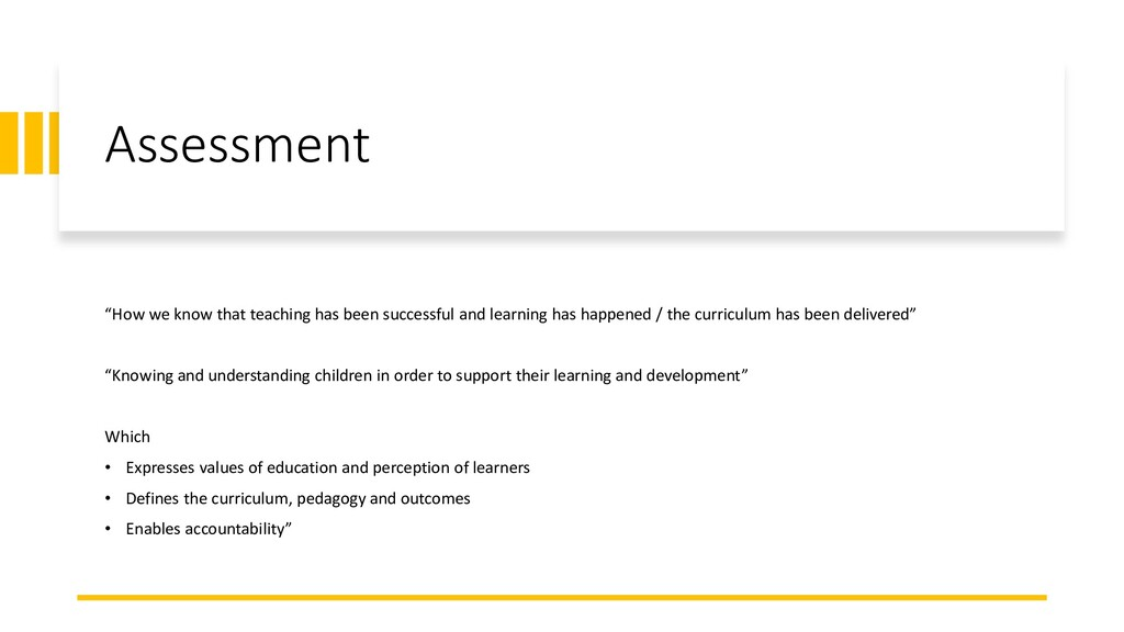 """Assessment """"How we know that teaching has been ..."""