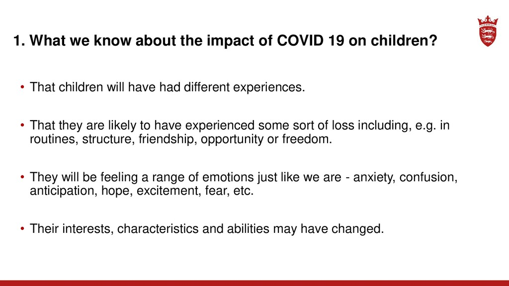 1. What we know about the impact of COVID 19 on...