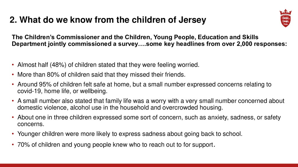 2. What do we know from the children of Jersey ...