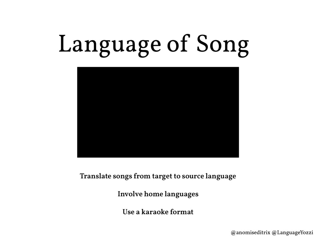 Language of Song Translate songs from target to...