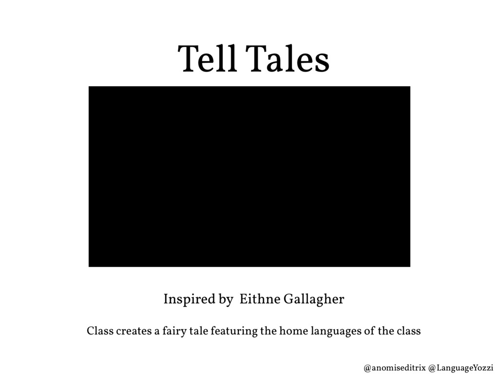 Tell Tales Inspired by Eithne Gallagher Class c...