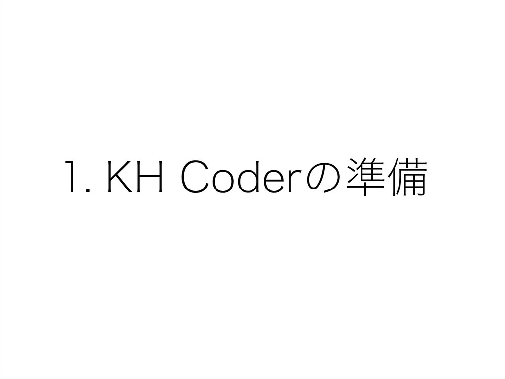 3 1. KH Coderの準備