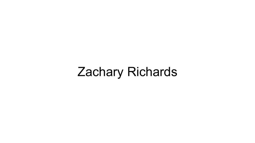 Zachary Richards
