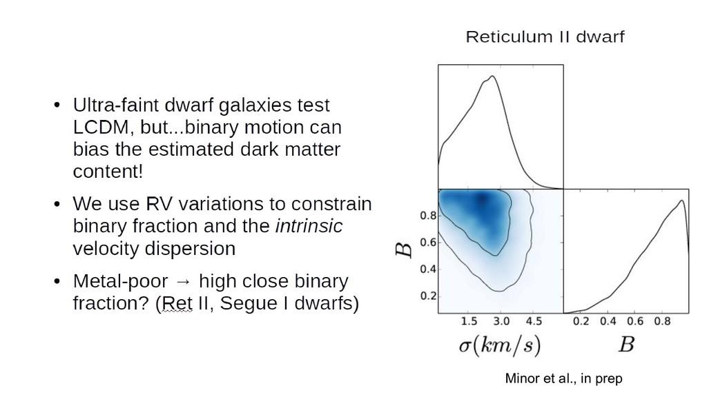 Minor et al., in prep