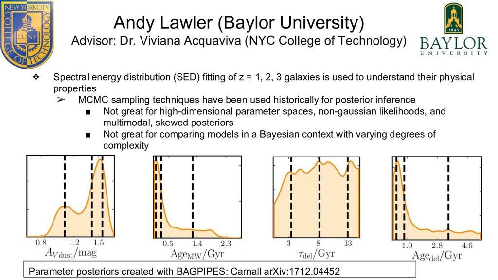 Andy Lawler (Baylor University) Advisor: Dr. Vi...