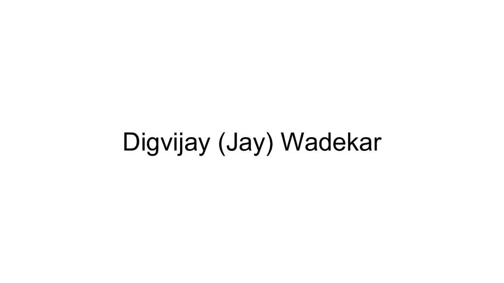 Digvijay (Jay) Wadekar