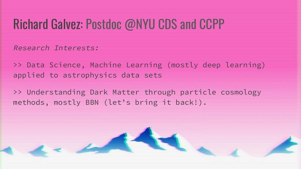 Richard Galvez: Postdoc @NYU CDS and CCPP Resea...