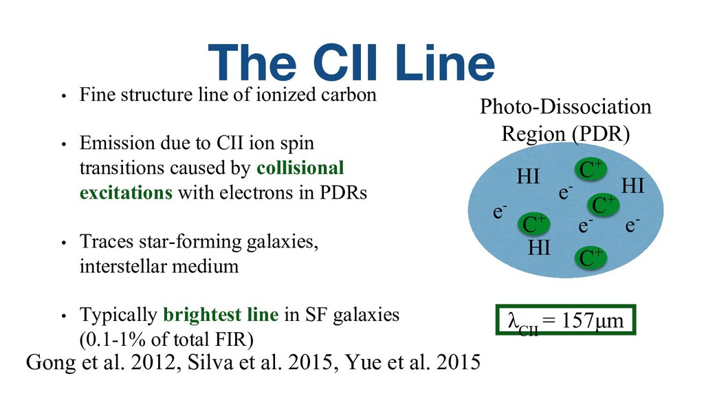 The CII Line • Fine structure line of ionized c...