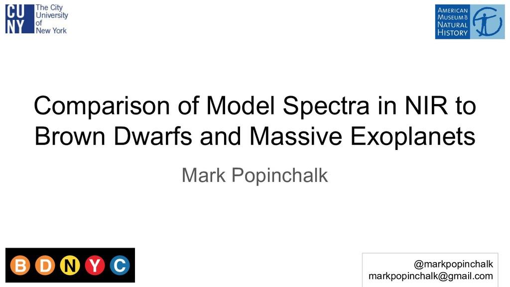 @markpopinchalk markpopinchalk@gmail.com Compar...