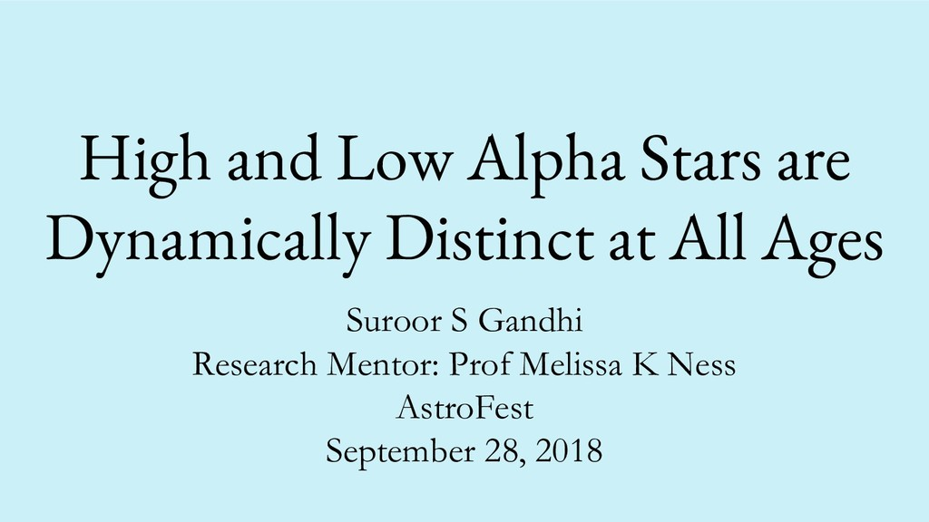 High and Low Alpha Stars are Dynamically Distin...