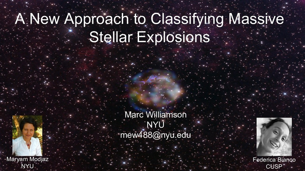 A New Approach to Classifying Massive Stellar E...