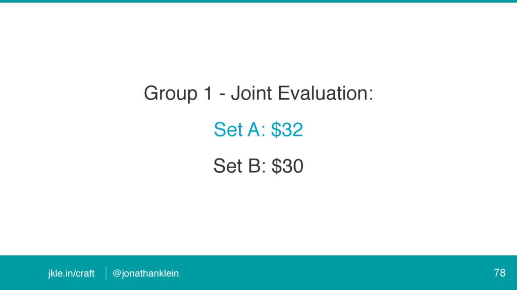 @jonathanklein jkle.in/craft Group 1 - Joint Ev...