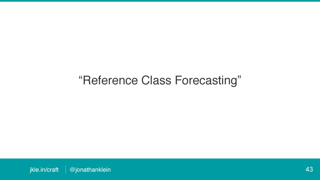 """@jonathanklein jkle.in/craft """"Reference Class F..."""