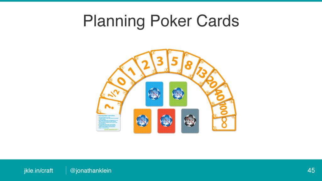 @jonathanklein jkle.in/craft Planning Poker Car...
