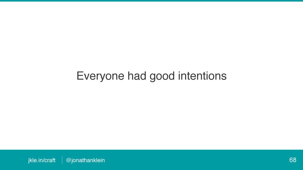 @jonathanklein jkle.in/craft Everyone had good ...