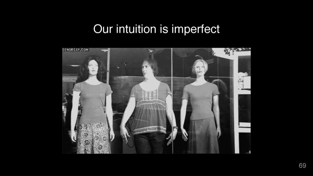 Our intuition is imperfect 69