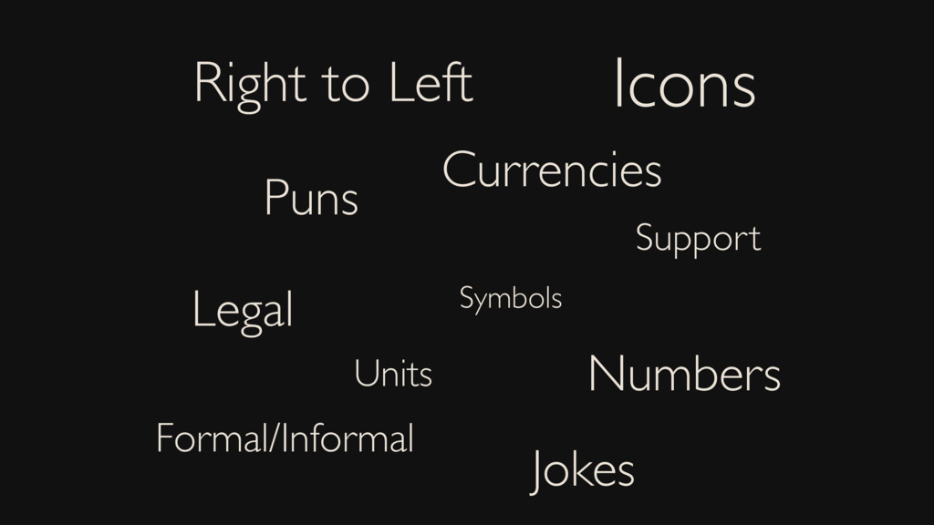 Right to Left Icons Symbols Puns Jokes Legal Cu...